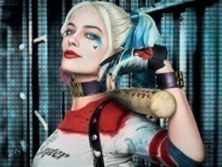 Harley Quinn by Nick Holdsworth -  sized 47x35 inches. Available from Whitewall Galleries